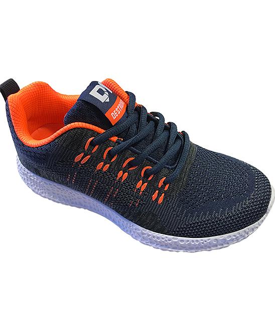 SPORT Boys' Sneakers navy/orange - Navy & Orange Lace-Up Sneaker - Boys