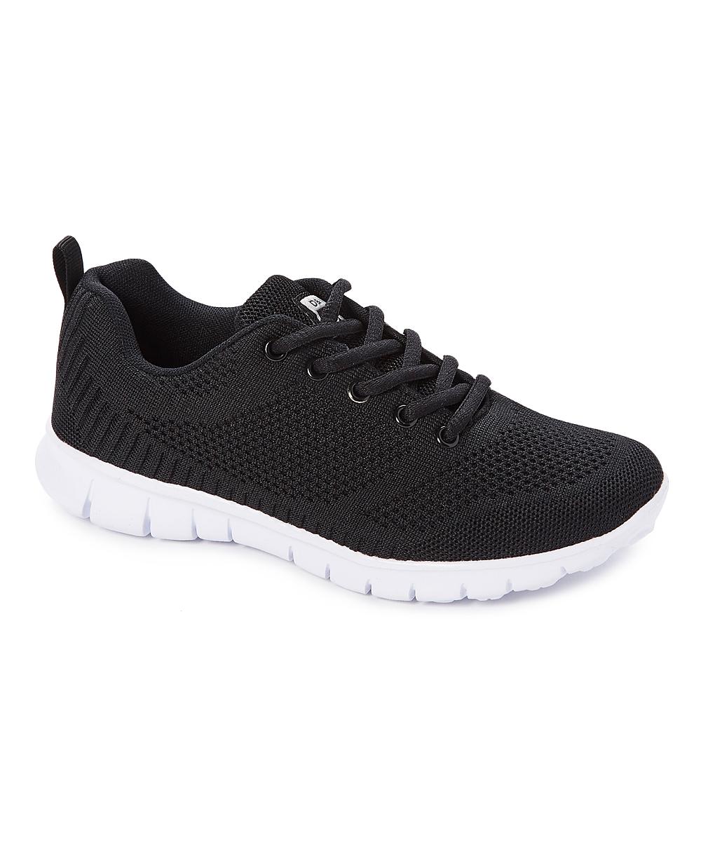 SPORT Women's Sneakers blk/wh - Black & White Lace-Up Sneaker - Women