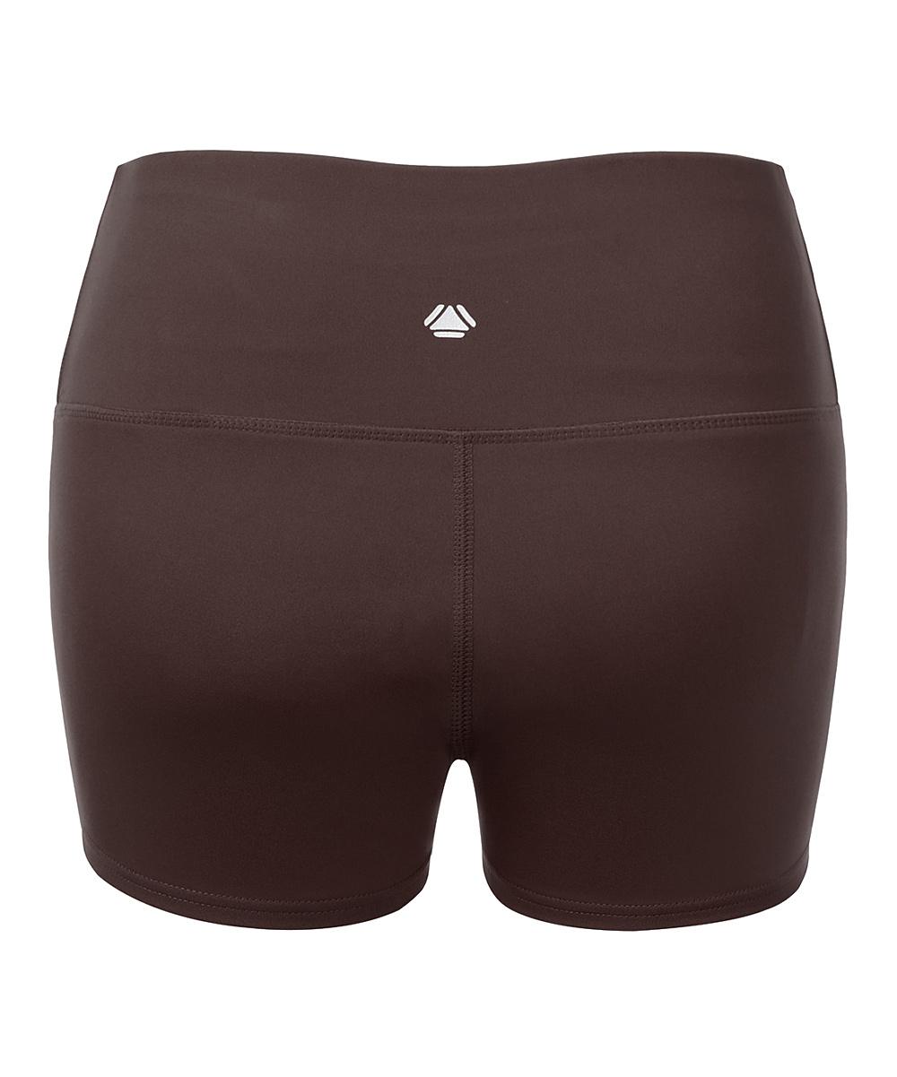 84b5126845 ... Womens DARKBROWN Dark Brown Tummy-Control High-Waist Running Shorts -  Alternate Image 2 ...