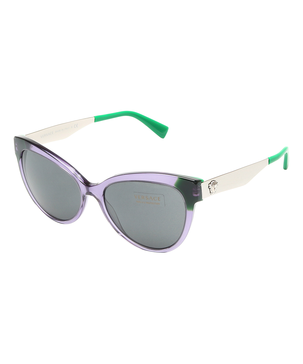 b3937b841857 Purple   Green Cat-Eye Sunglasses