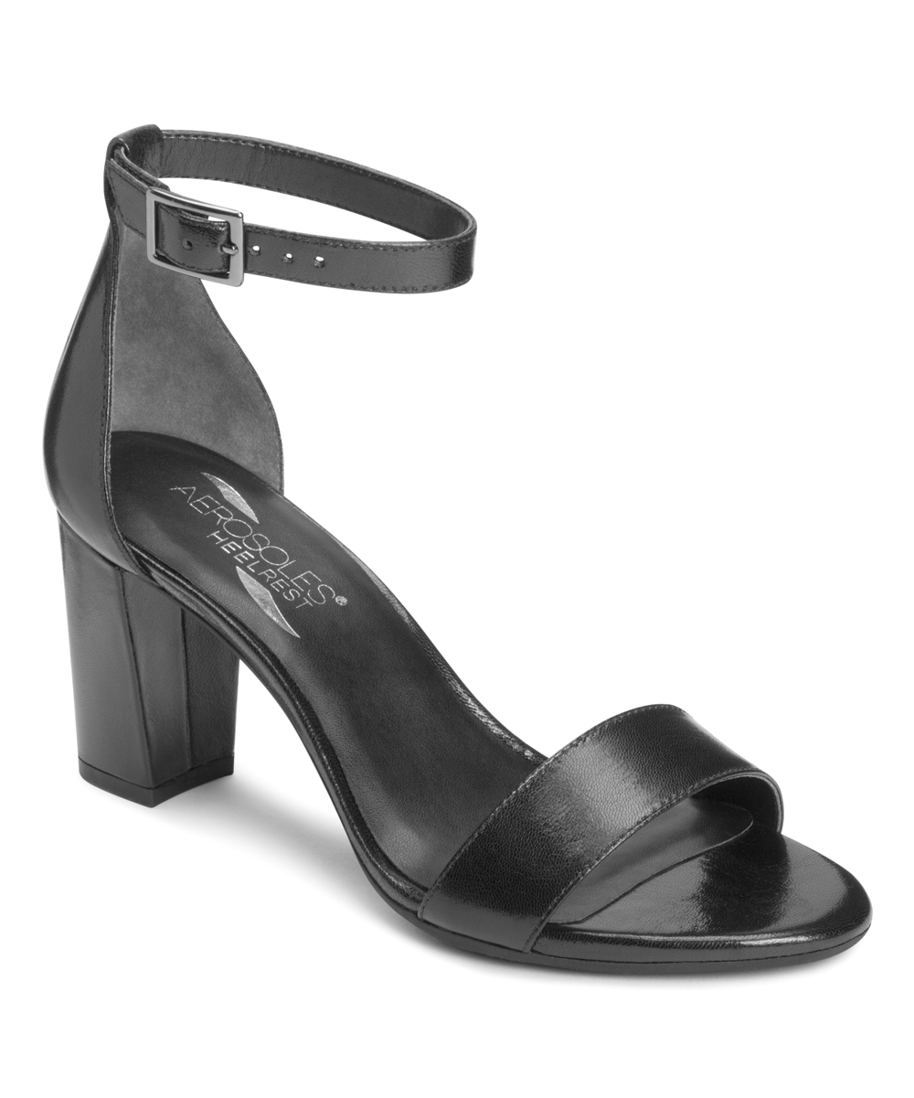 d7fa85e21fce6 Aerosoles Black Bird of Paradise Leather Sandal - Women