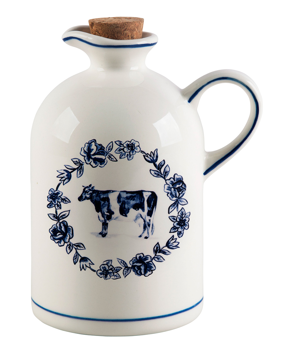 """Molly Hatch  Oil & Vinegar Cruets  - 7"""" Cow Oil Bottle"""