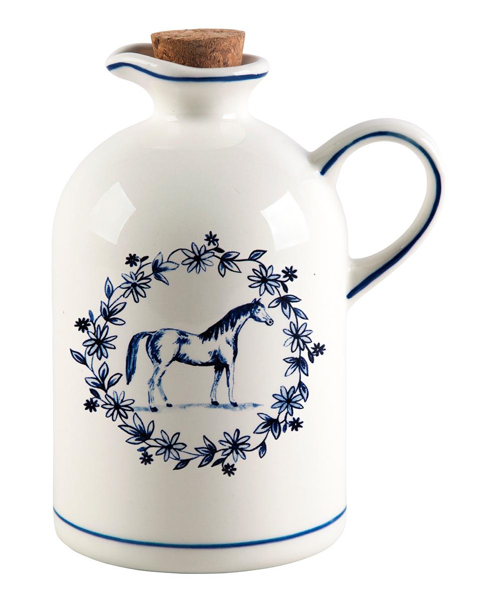 "Molly Hatch  Oil & Vinegar Cruets  - 7"" Horse Oil Bottle"