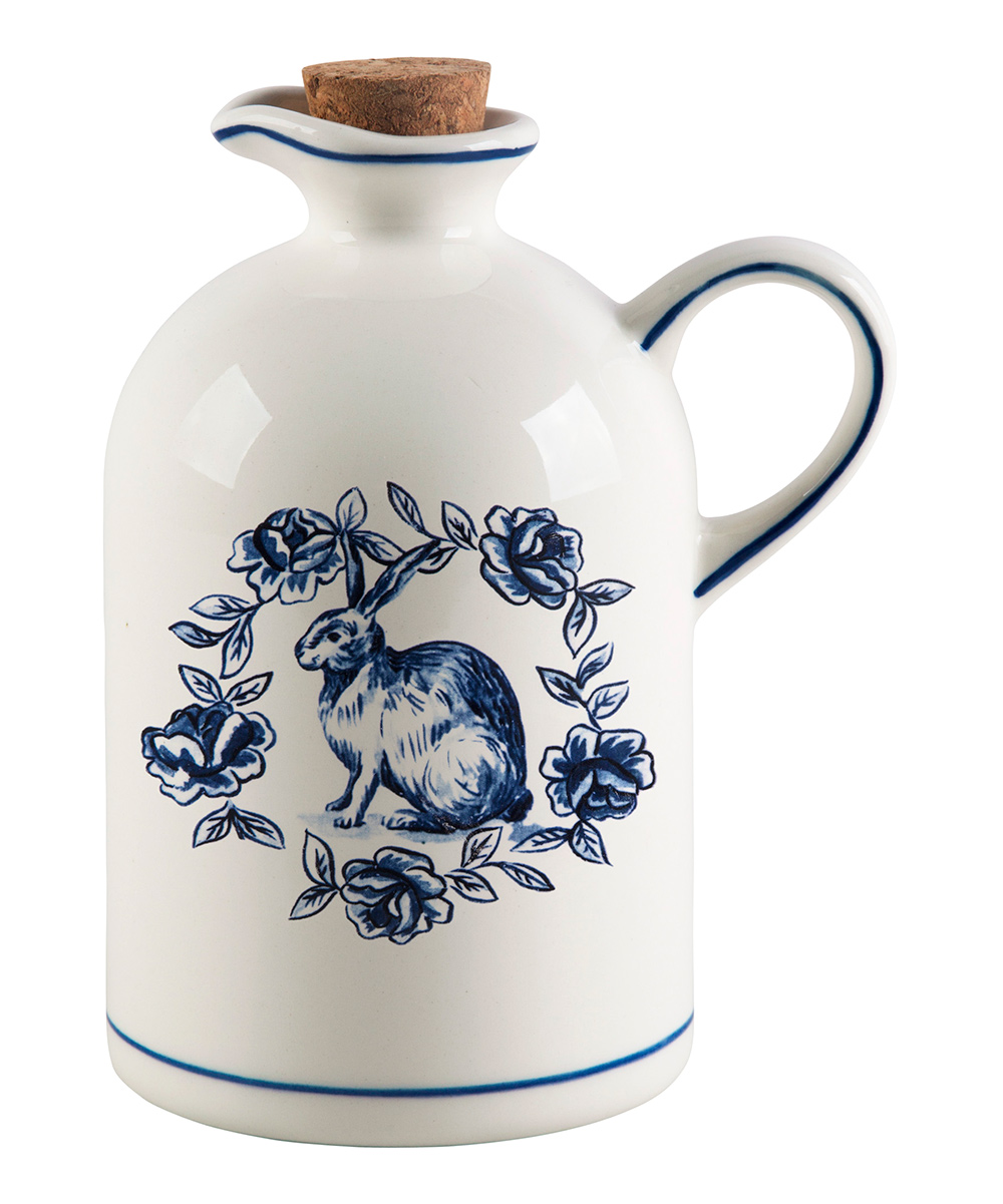 "Molly Hatch  Oil & Vinegar Cruets  - 7"" Rabbit Oil Bottle"