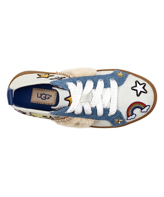 712a243624a UGG® Bleach Denim Patch It Sneaker - Girls