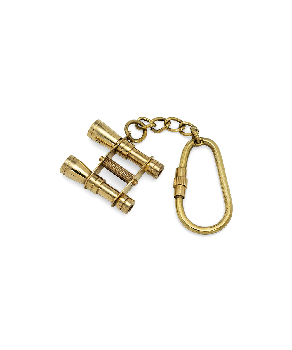 Binocular Keychain Binocular Keychain. Add fascination to your key collection with this charming brass key chain that features a vintage-inspired design. 1'' W x 4'' LBrassImported