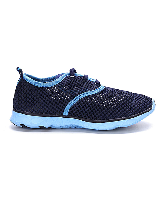 Sea Kidz  Water shoes Navy/Aqua - Navy & Aqua Mesh Water Sneaker - Kids