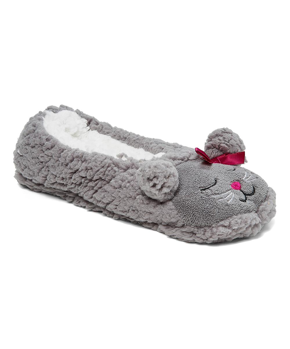 89db1856f3a41 dELiA*s Gray Cat Slipper Sock - Kids