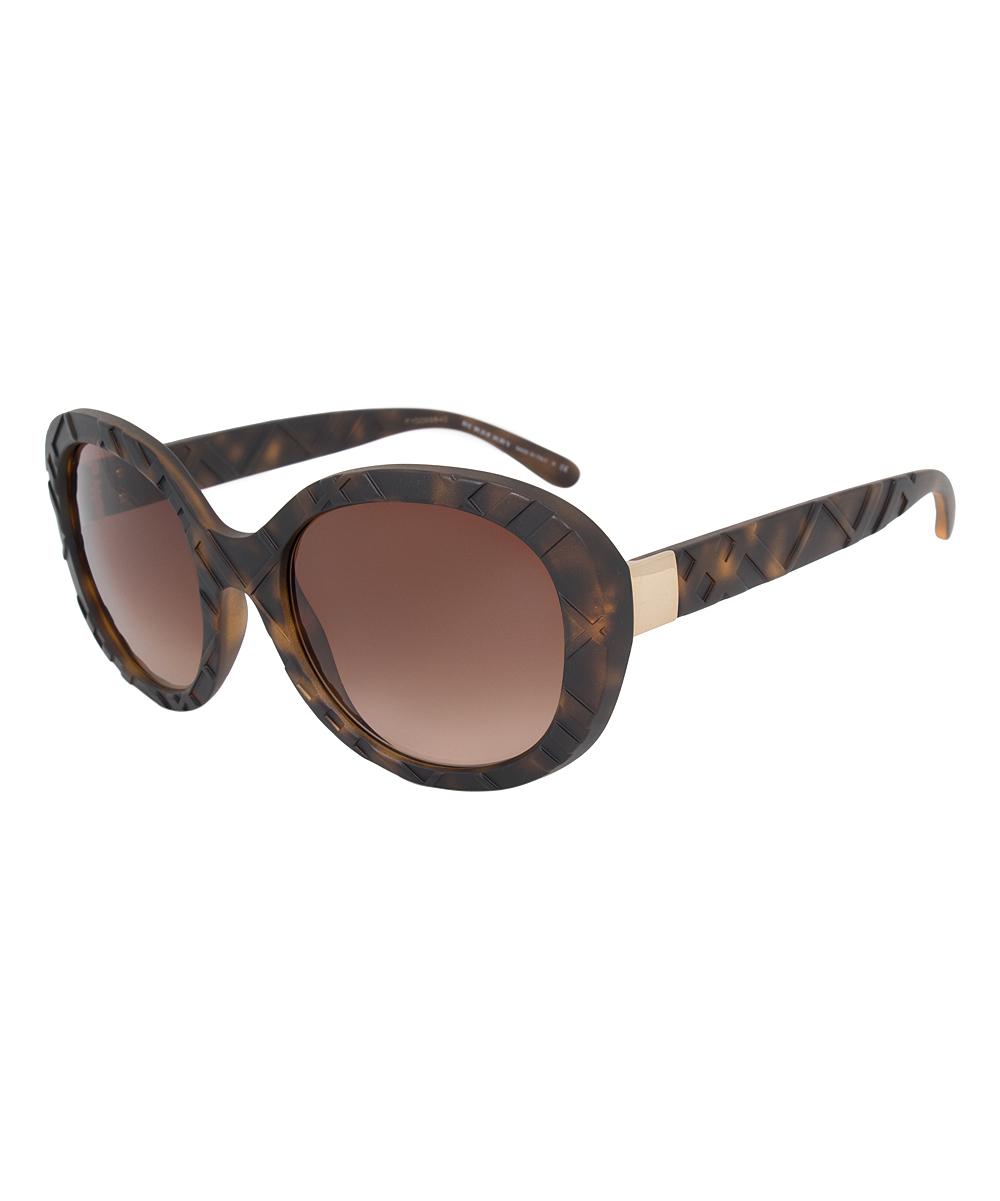 2328e16df Burberry Brown Oversize Oval Sunglasses | Zulily