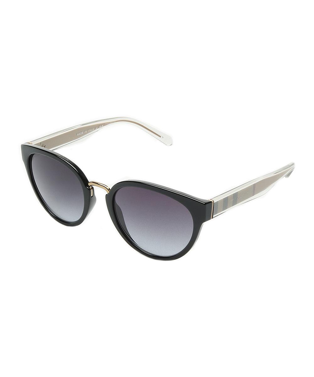 14c24757dd7a Burberry Black   Gold Gradient Cat-Eye Sunglasses