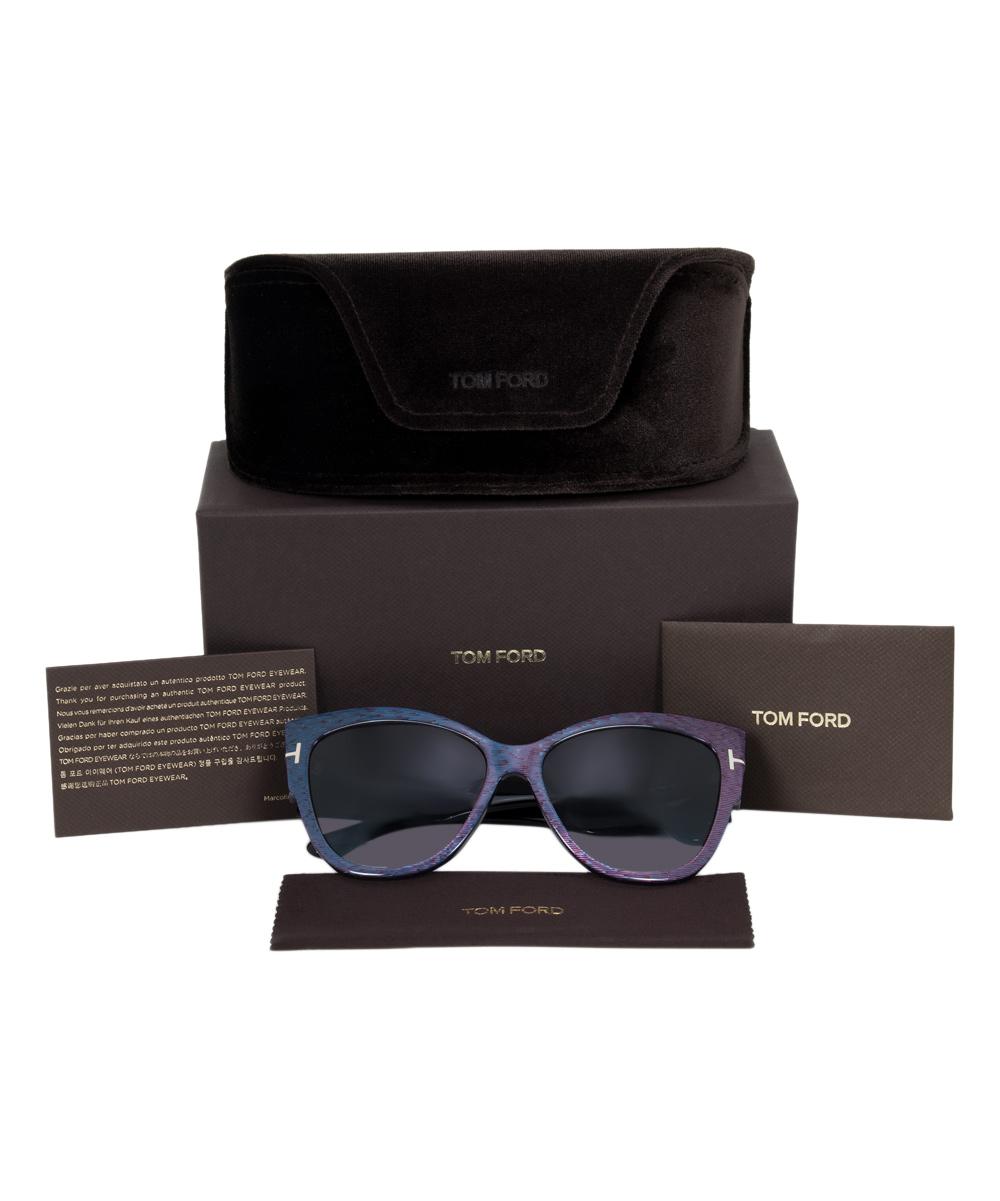 05605786bd1e2 ... Womens Multi Purple & Blue Anoushka Cat Eye Sunglasses - Alternate  Image 5