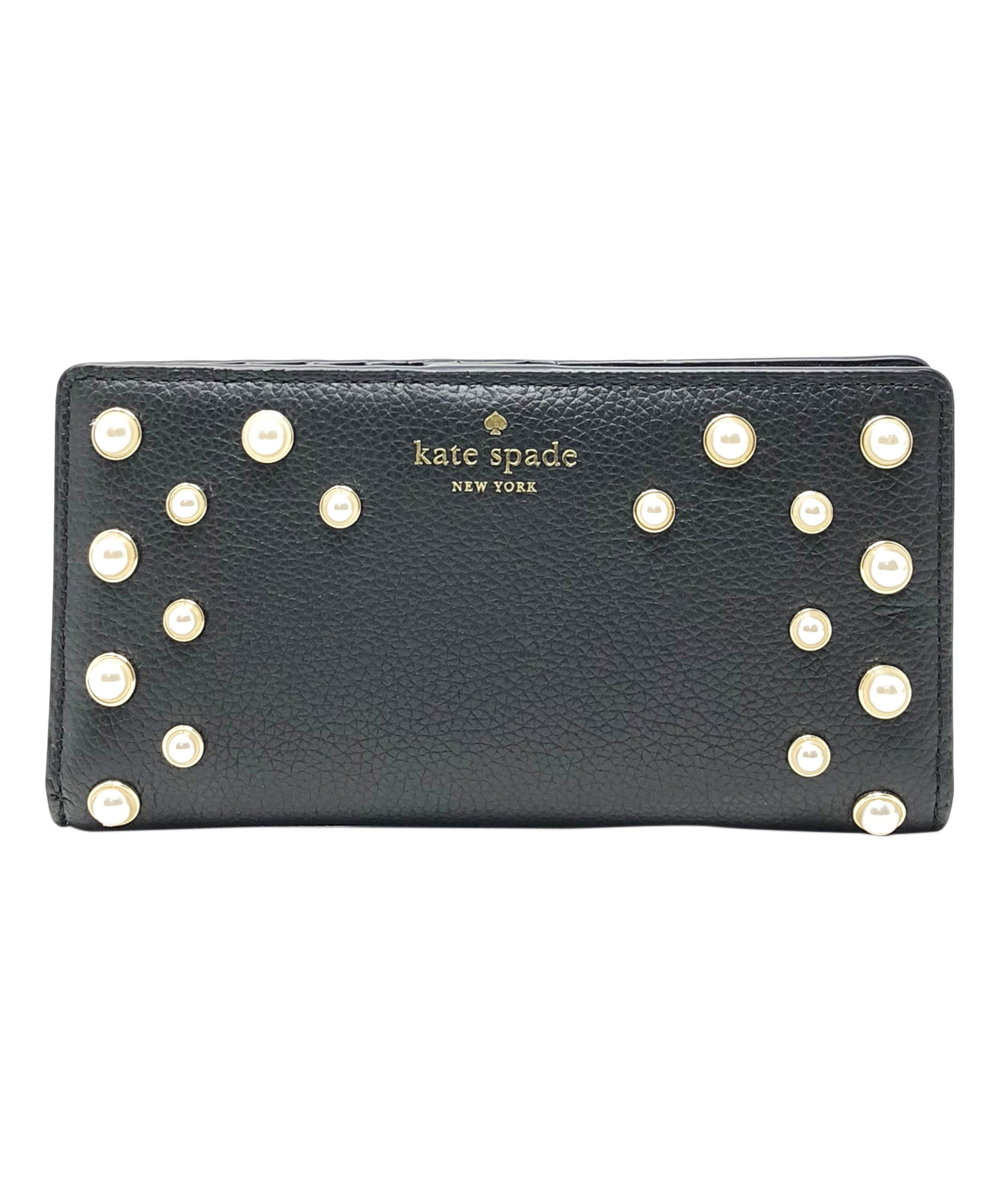 b8a4e2643481 Kate Spade Black Serrano Place Pearl Stacy Leather Wallet