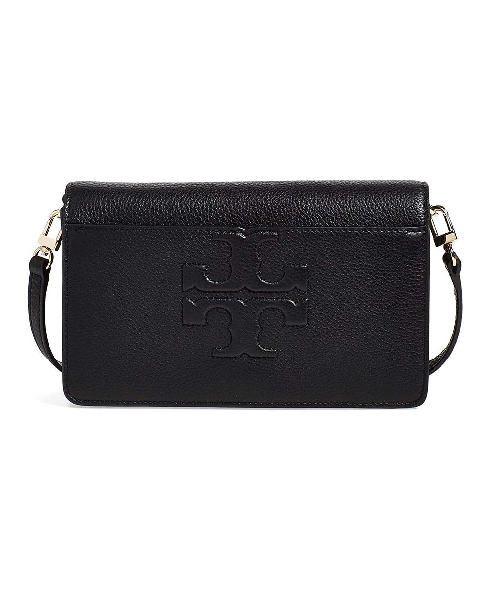 7c59b659f888 Tory Burch Black Bombe T Leather Small Crossbody Bag | Zulily