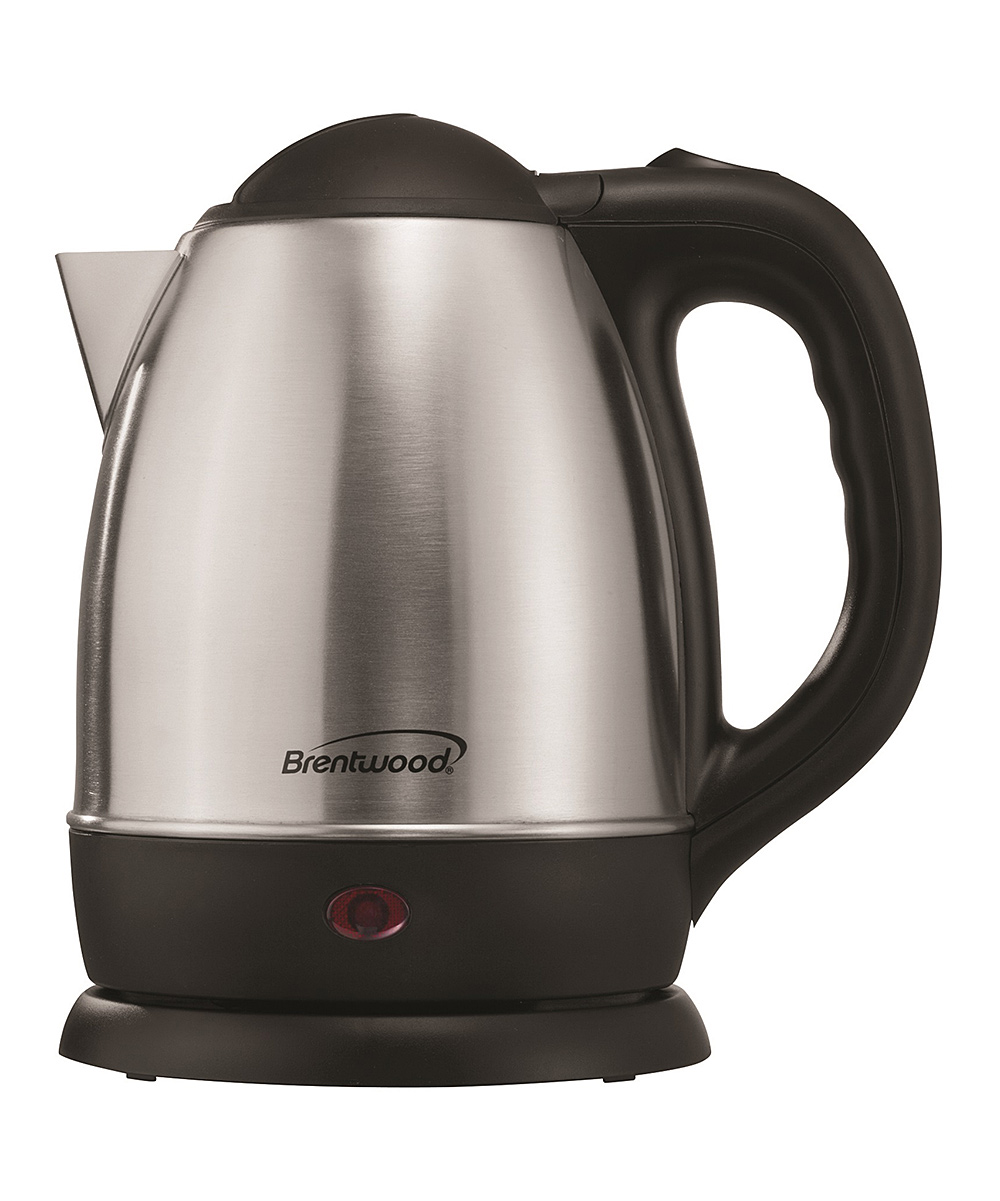 Brentwood Appliances  Electric Kettles Black - Silver KT-1770 1.26-Qt. Cordless Electric Stainless Steel Kettle