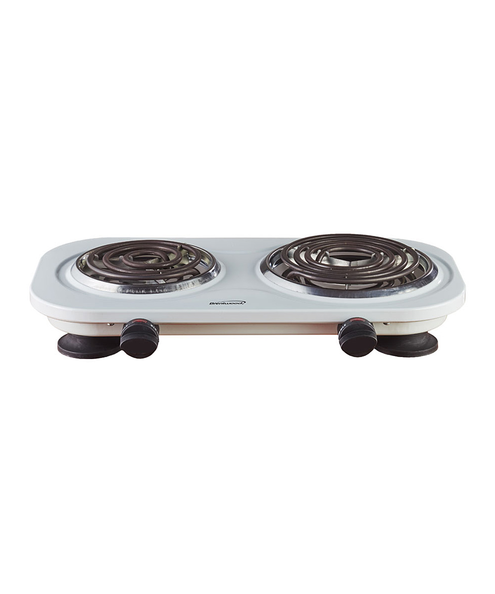 Brentwood Appliances  Miscellaneous Kitchen Tools White - White TS-361W 1500W Double Electric Burner