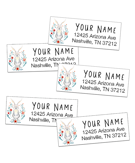 Label Daddy Woodland Bunny Personalized Return Address Label - Set of 64