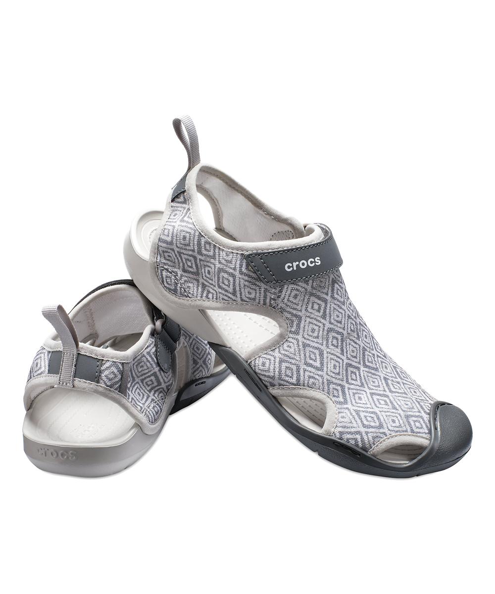 c50c4d299e480 ... Womens Gray Diamond Swiftwater Graphic Mesh Sandal - Alternate Image 3  ...