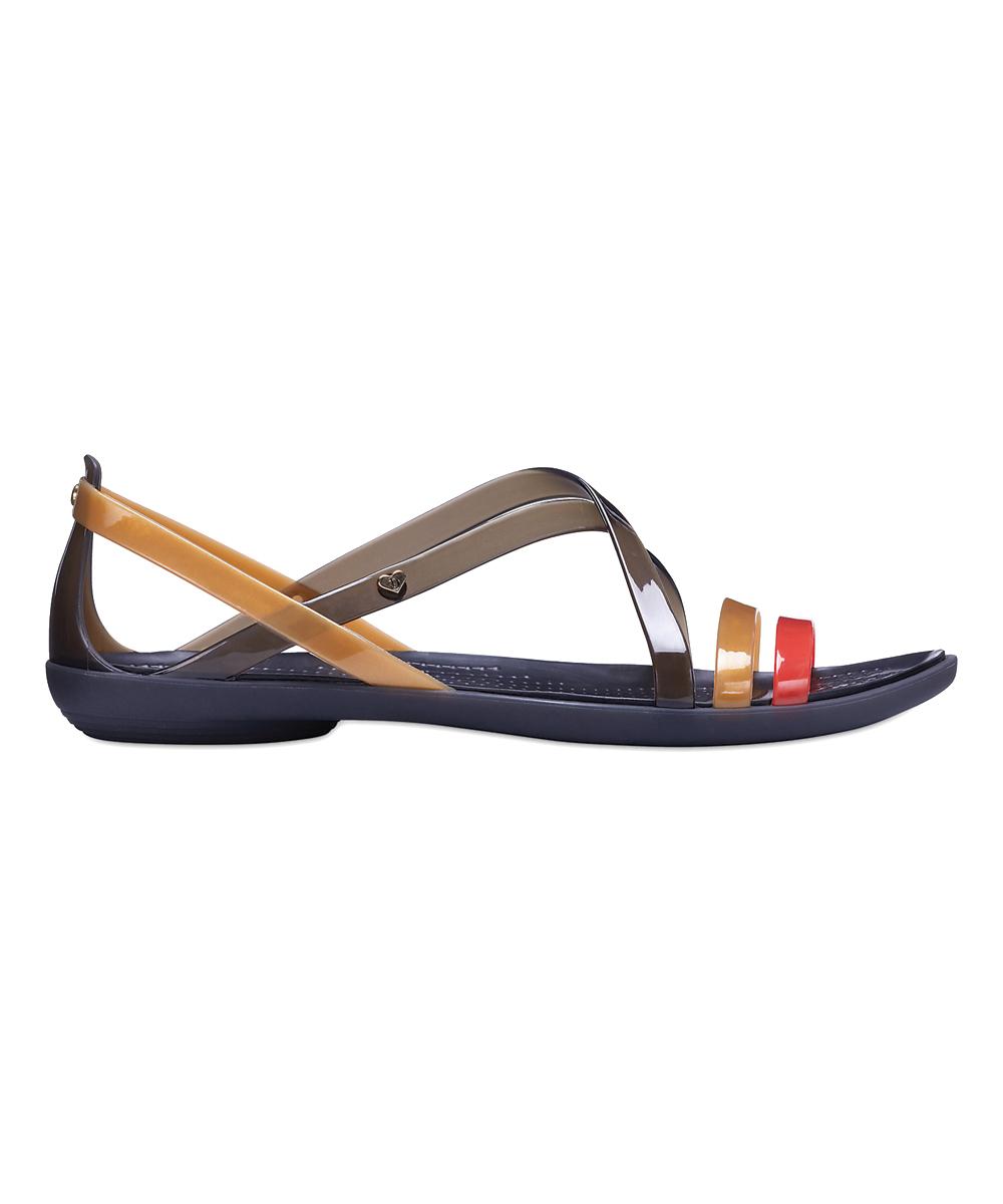 4514e72a2f3f3c ... Womens Black Gold Black   Gold Drew x Crocs™ Isabella Sandal -  Alternate Image ...