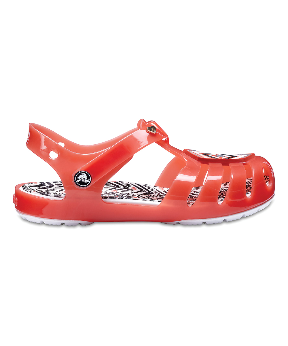 9b2f7bff1a83 love this product Tomato   White Drew Barrymore Isabella Sandal - Girls
