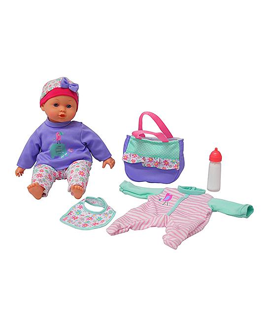 Flat River  Dolls multi - 14'' Baby Doll & Diaper Bag Set