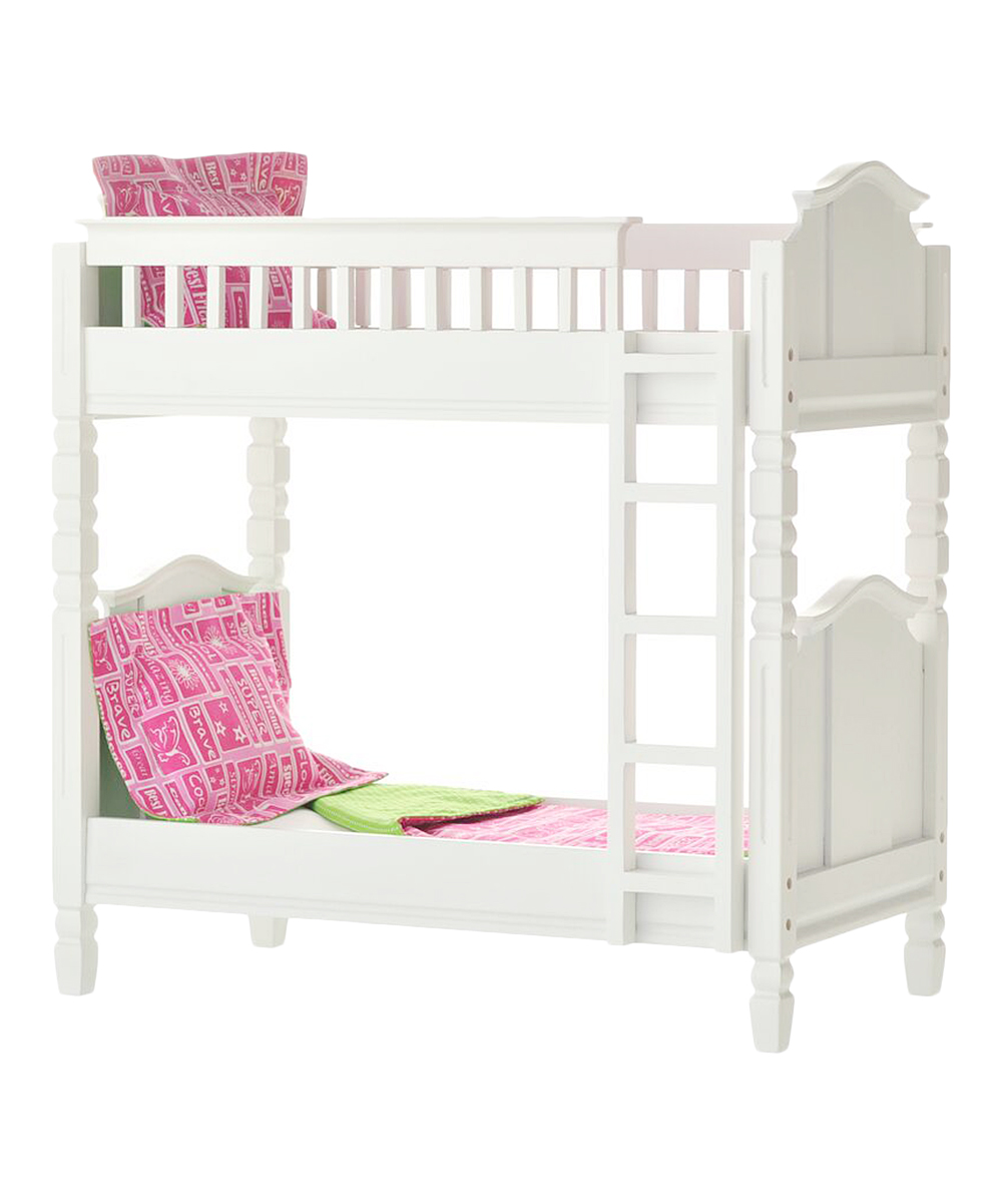Laurent Doll White Doll Bunk Bed For 18 Dolls Zulily