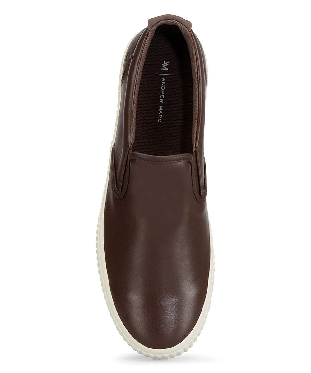 a96571683e6f Andrew Marc Brown   Off-White Riverside Leather Slip-On Sneaker ...