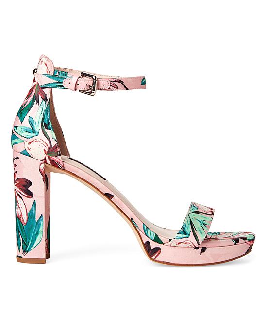 4a541c3d308 ... Womens PINK MU FB Pink Floral Dempsey Sandal - Alternate Image 4 ...