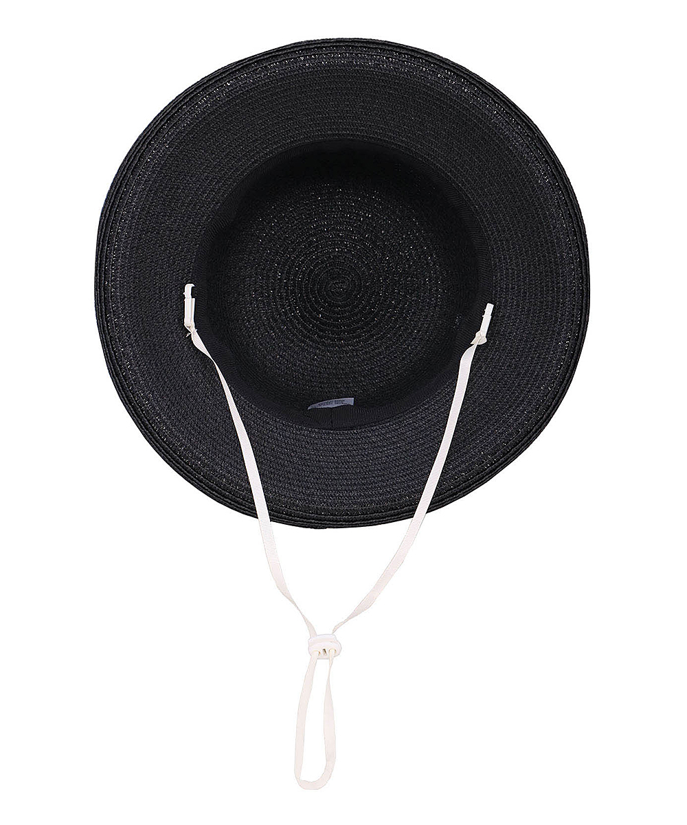 e3625a1cee5c5 Simplicity Black Lullaby UPF 50+ Foldable Straw Sun Hat