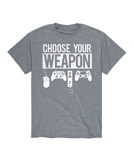 Instant Message Mens Men's Tee Shirts ATHLETIC - Athletic Heather 'Choose Your Weapon' Tee - Men