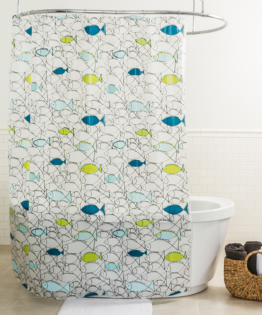 7 Viewing Lime Chummy Shower Curtain