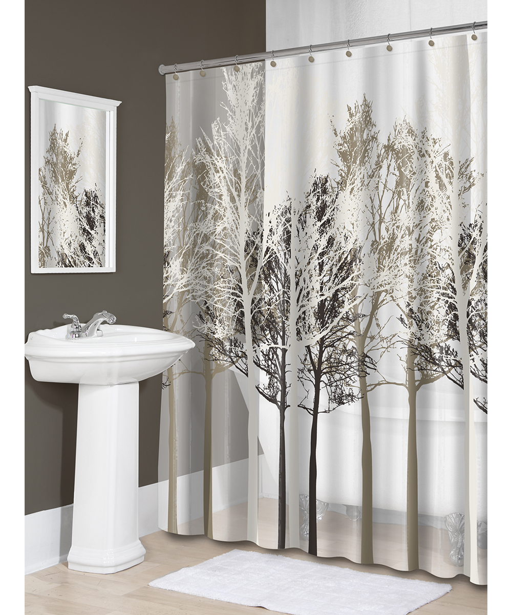 Love This Product Beige Forest Shower Curtain