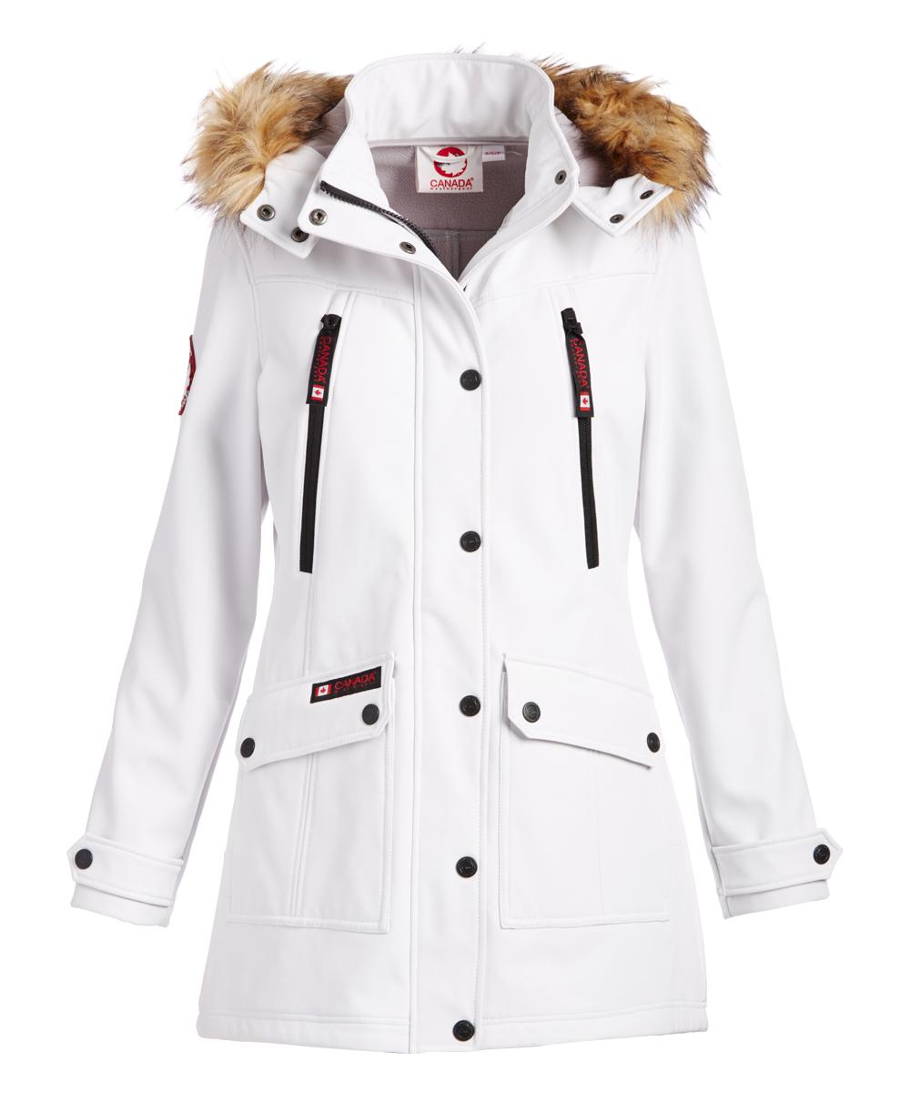 ff70c5c8f1e2 Canada Weather Gear White Faux Fur-Trim Hooded Jacket - Women