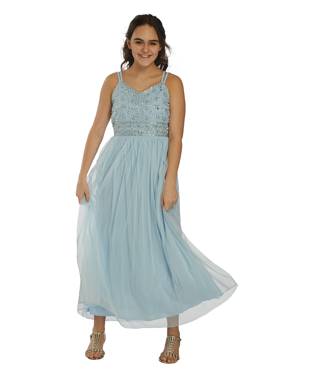 4665d89184b9 Speechless Blue Embellished Maxi Dress - Girls