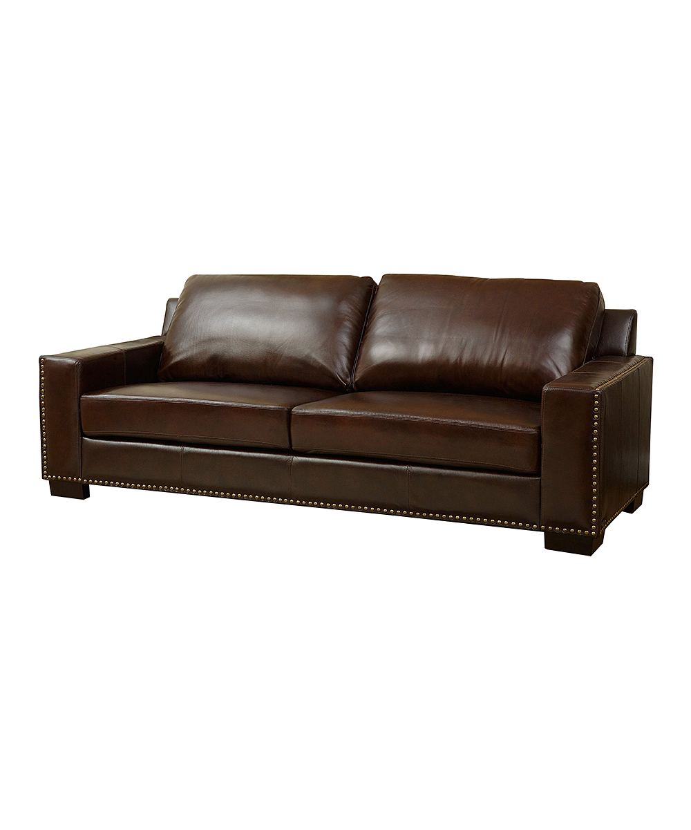 Florence Leather Sofa Zulily