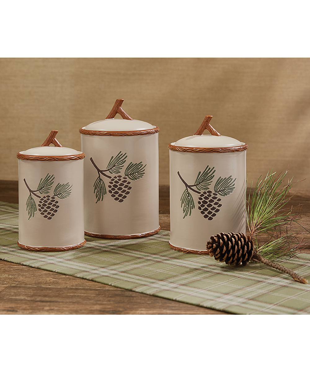 beautiful Park Design Canister Set Part - 12: Park Designs Pinecroft Canister - Set of Three | zulily