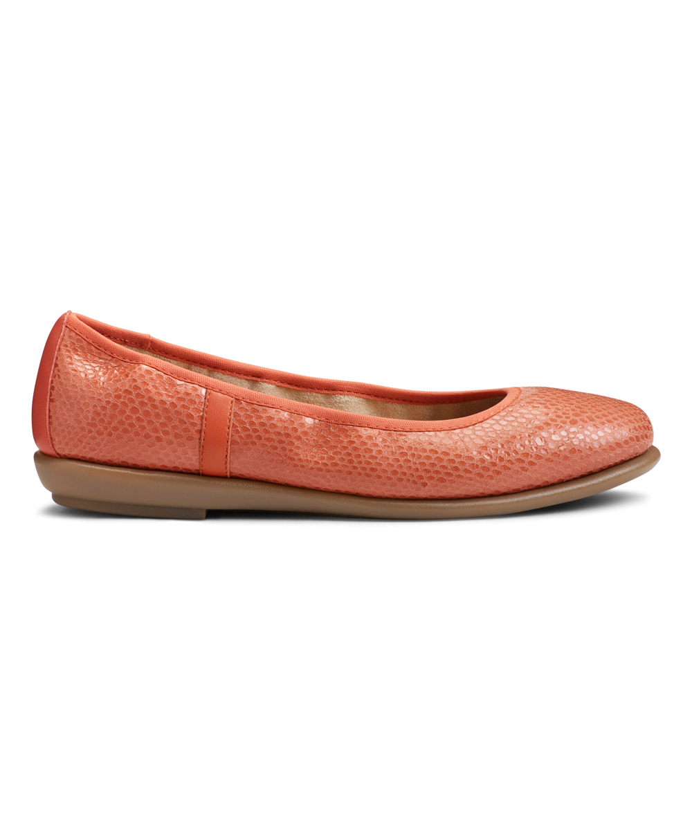 ea492737e3b love this product Coral Better Yet Snake-Embossed Leather Flat - Women