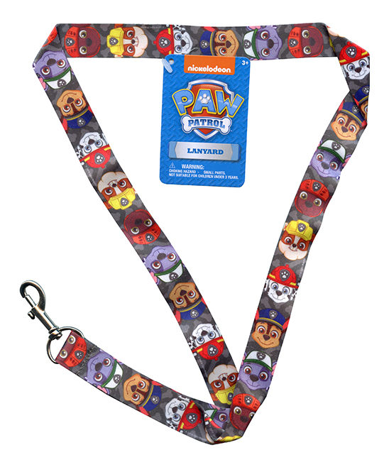 PAW Patrol Lanyard PAW Patrol Lanyard. Little pups won't lose keys or other important items that are attached to this fun and practical lanyard that showcases favorite PAW Patrol pals. PlasticRecommended for ages 3 years and upImported