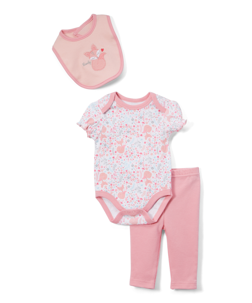 René Rofé Pink   White Lovely Bodysuit Set - Infant  2f7895d40