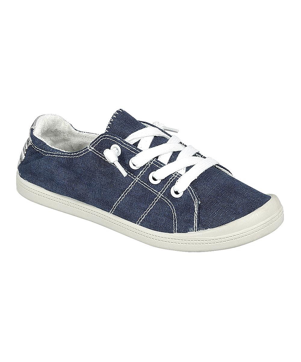 Forever Link Shoes Women's Sneakers NAVY - Navy Comfort Sneaker - Women