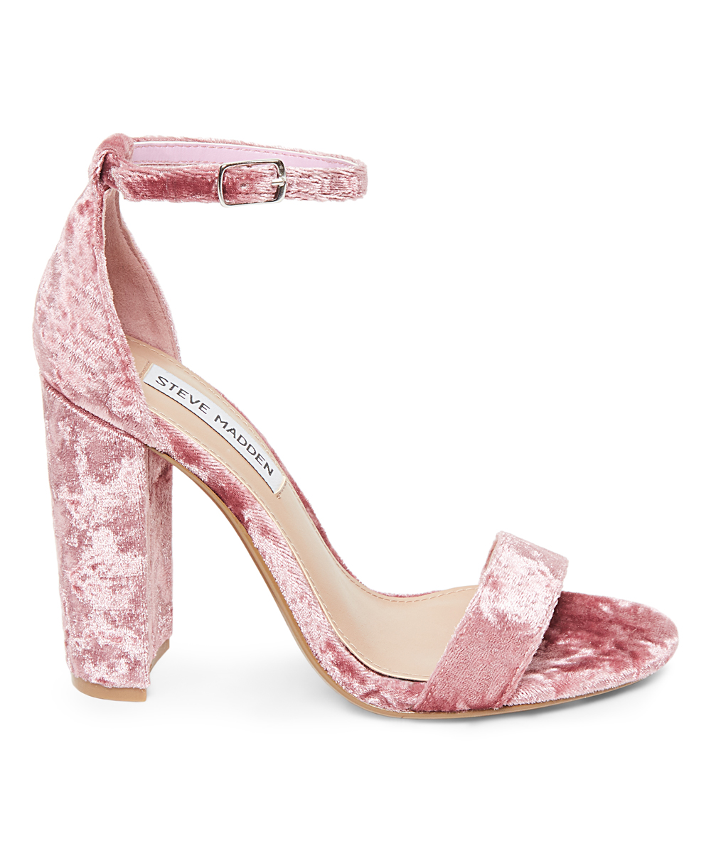 84e211500ff4 Steve Madden Pink Velvet Carrson Sandal - Women