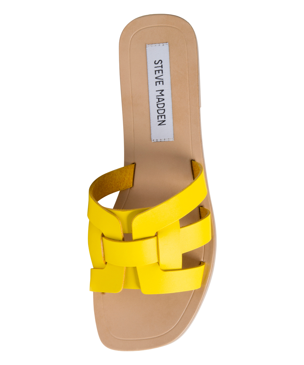 078b5e91006 ... Womens YELLOW LEATHER - 709 Yellow Sicily Leather Sandal - Alternate  Image 5