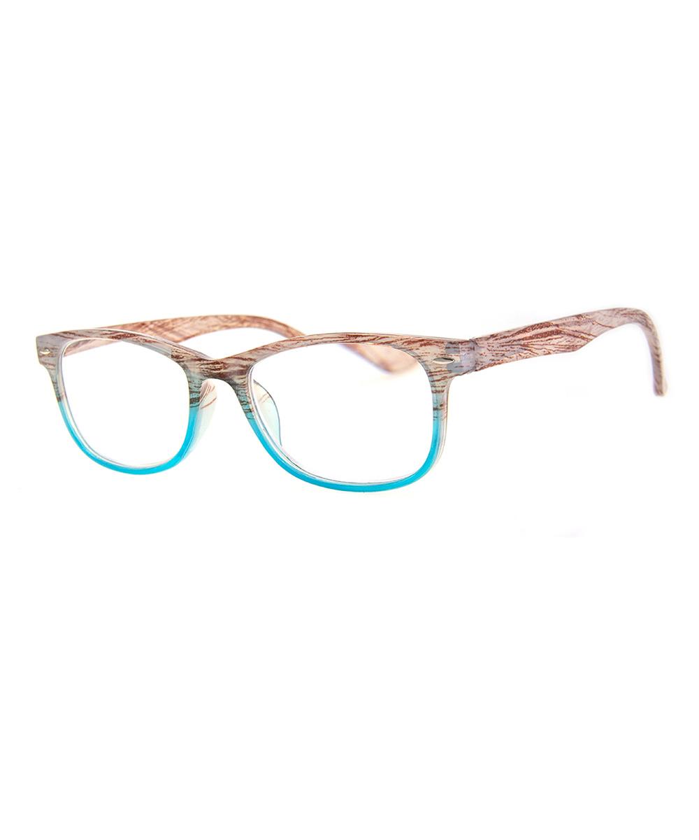 Blue & Wood Transparent Readers