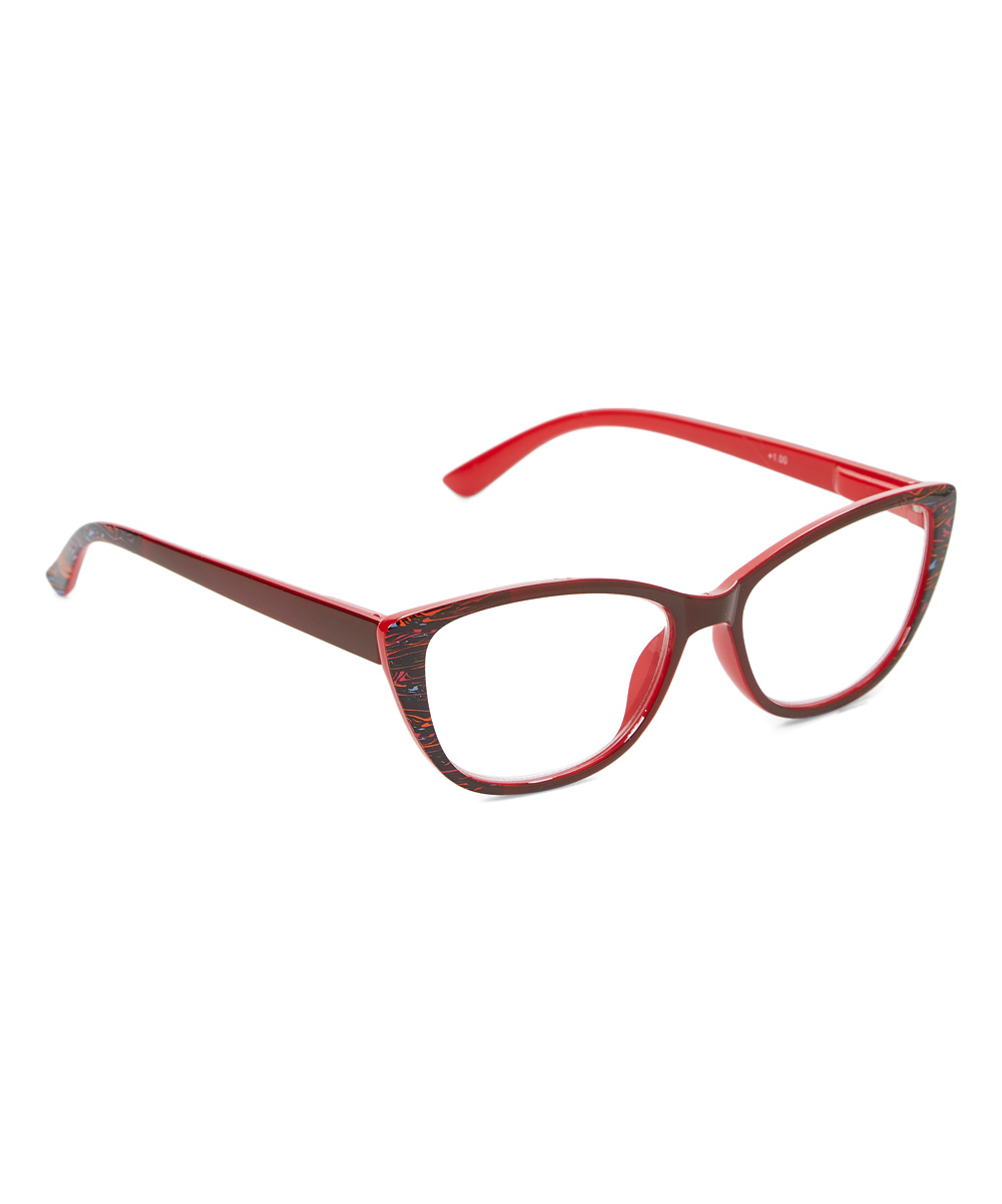 I Love Accessories Women's Reading Glasses RED - Red Cat-Eye Readers