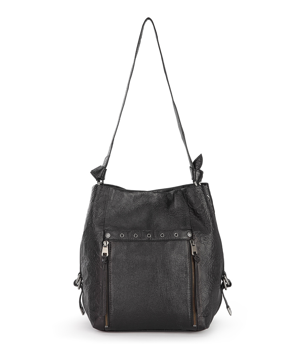 e36f9bb9d8 The Sak Black Runyon Leather Bucket Bag