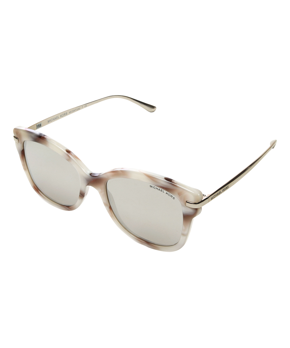 539604be715 Source · Michael Kors Ivory White   Silvertone Lia Square Sunglasses zulily