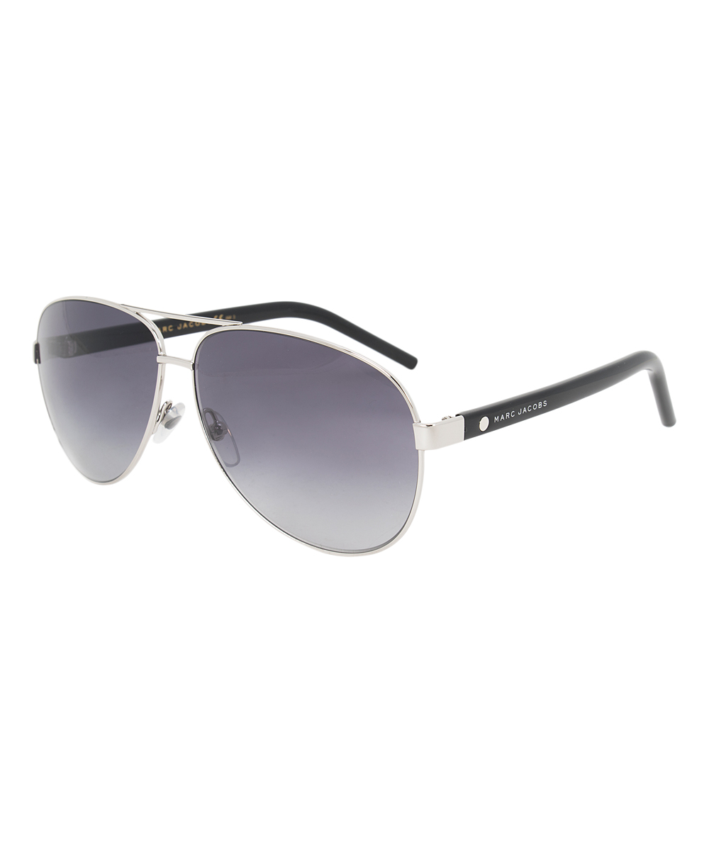 e03b681449dcc Marc Jacobs Gray   Silver Aviator Sunglasses