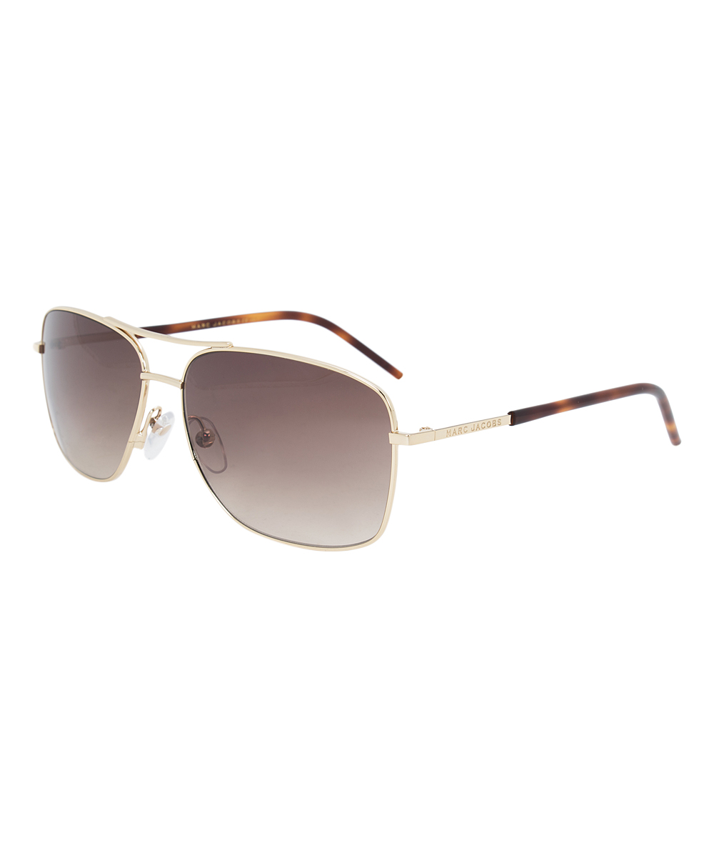 9a207d7f6e Marc Jacobs Gold Aviator Sunglasses