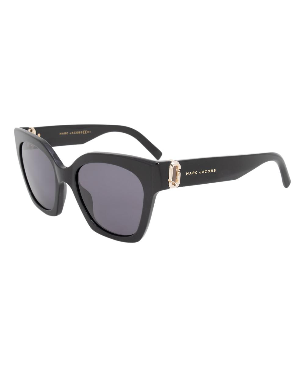 50e5d32f33e Marc Jacobs Shiny Black Cat-Eye Sunglasses