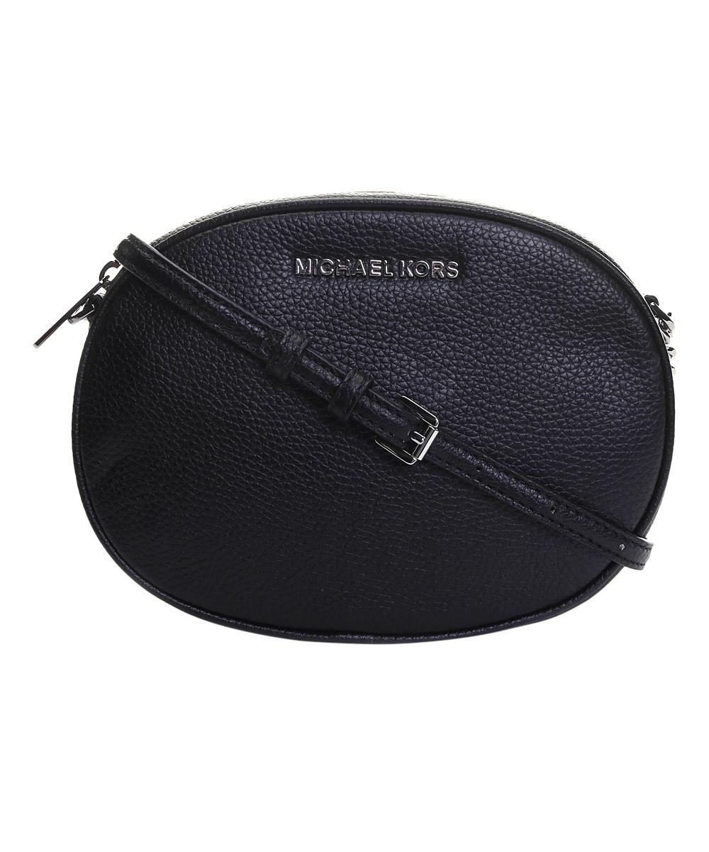 e98e583213f12 Michael Kors Black Ginny Leather Crossbody Bag