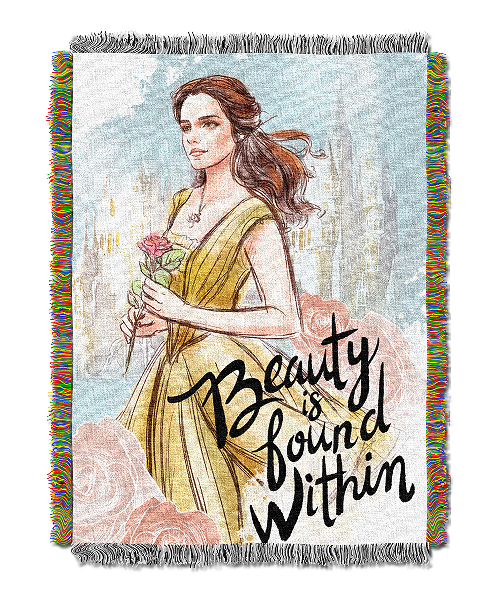 Beauty & The Beast 'Beauty Is Found Within' Tapestry Throw